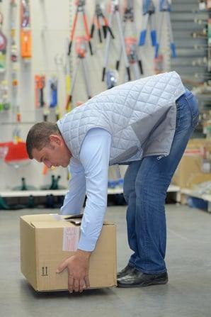 posture au travail manutentionnaire